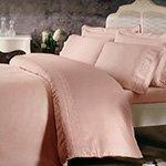 Комплект белья сатин люкс с органзой Arian розовый Tivolyo