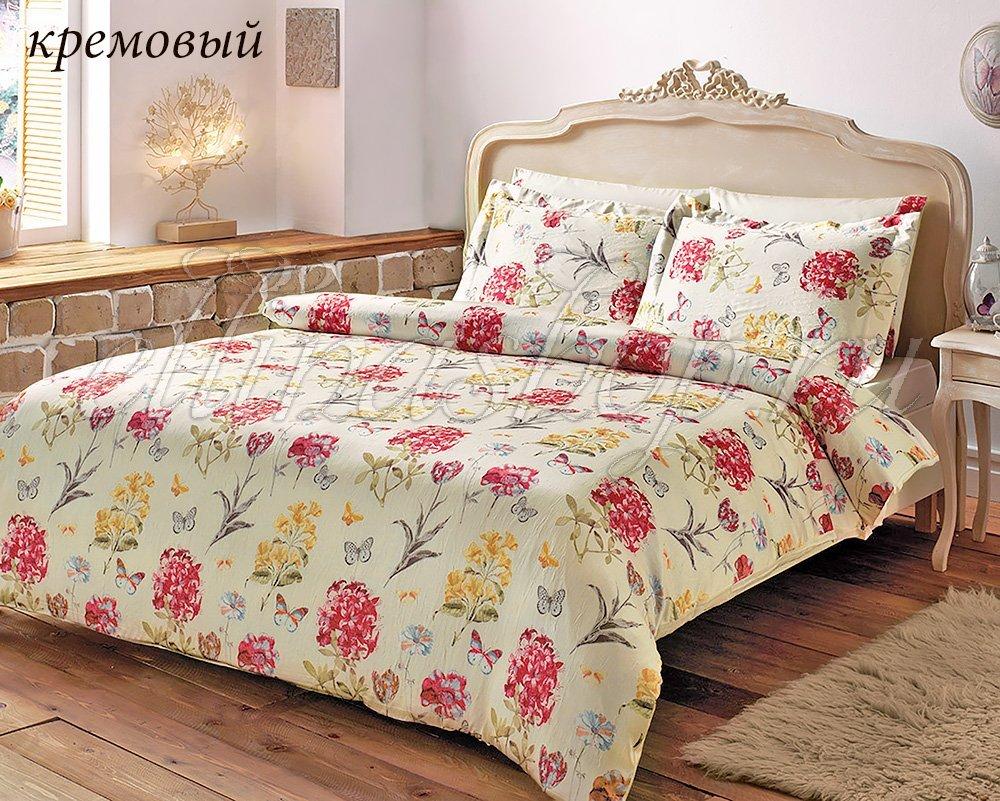 Nature кремовый - постельное белье с жатым шелком Tivolyo