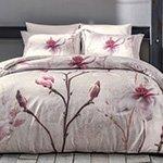 Постельное белье сатин-люкс Orchidea бежевый Tivolyo