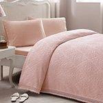 Комплект (простыня, наволочки, покрывало) La perla розовый Tivolyo