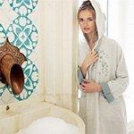 Бамбуковый трикотажный халат  Tomurcuk бежевый Buldan
