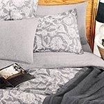 Постельное белье Tuval серый Buldan