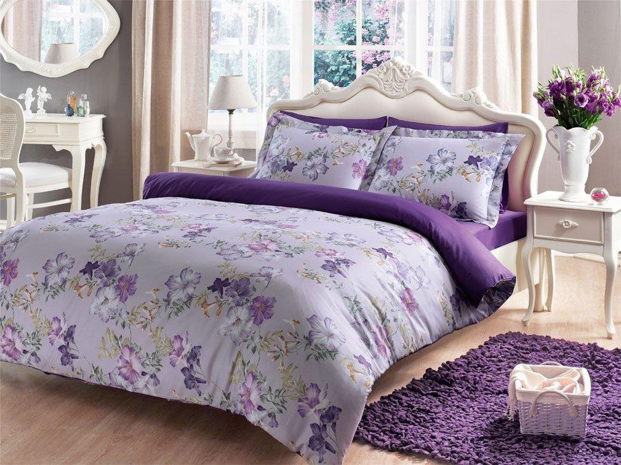 Viola сатиновое постельное бельё Tivolyo