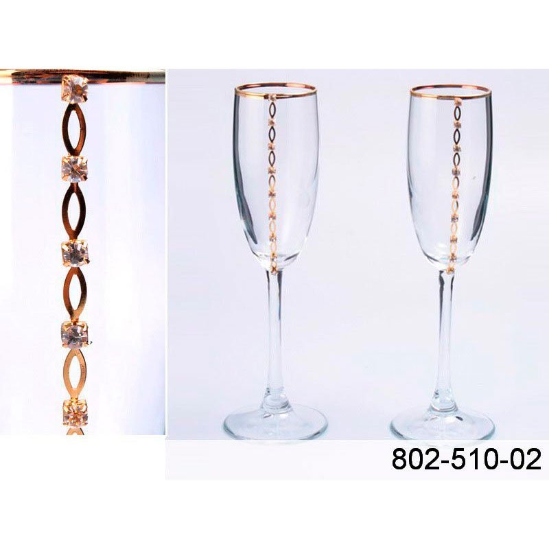 """802-510-02 набор бокалов д.шампанского """"С любовью"""""""