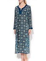 Платье трикотажное, длинное 42С0417 Beach Shades Cote coton