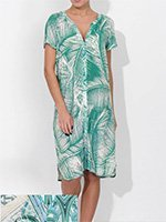 Облегченный халат на пуговицах 78с2516 Beach shades Cote coton