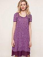 Туника трикотажная YI2319217 Layered Favorites фиолетовый DKNY