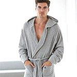 Велюровый мужской халат с капюшоном 50016 Jockey