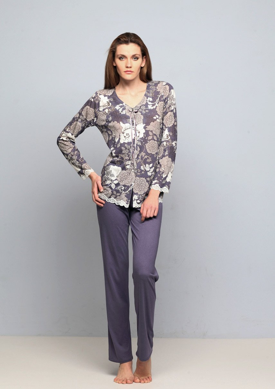 15335 Цветы - пижама (кофта+брюки) Nota