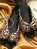 Туфли домашние на каблуке LEOP001 бежевый Бантик Petit Pas