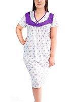 0106 (0119) Цветок - рубашка средней длины с коротким рукавом Мета