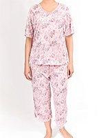 Пижама (футболка, капри) Розочки Metin collection