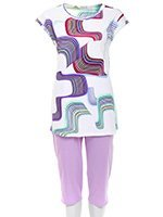 Пижама женская (футболка, бриджи) 152120 Charmor