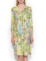 742150 Цветы - платье трикотажное Charmor