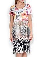 742259 Цветы - платье трикотажное Charmor