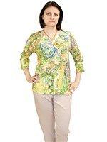 752150 Цветы - комплект (кофта+брюки) Charmor