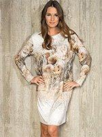 Платье средней длины Кристаллы 841080 Charmor