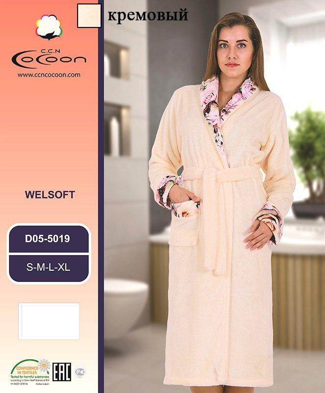 Женский халат из микрофибры 05-5019 Cocoon