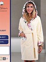 Женский халат с капюшоном из микрофибры 06-5017 Cocoon
