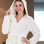 Женский халат из микрофибры 06-5039 Cocoon