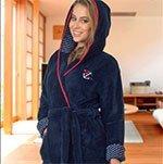 Женский халат средней длины из микрофибры, с капюшоном 06-5063 Cocoon