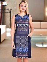 Платье-туника средней длины 11325 Cocoon