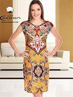 Платье средней длины 11351 Cocoon