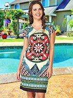 Платье средней длины 12401 Cocoon