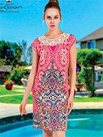 Платье средней длины, с вышивкой 12405 Cocoon