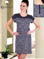 Платье трикотажное Зиг-заг 12491 Cocoon