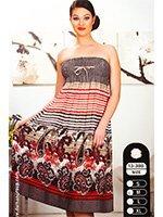 Сарафан-юбка средней длины Огурцы Y13-388  Cocoon