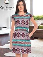Платьей средней длины 13049 Cocoon