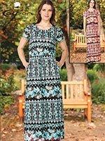 Платье длинное 20041 Cocoon