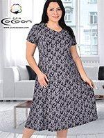 Платье трикотажное 20043 Цветы Cocoon