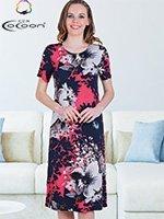 Платье трикотажное 20100 Цветы Cocoon