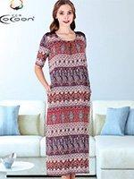 Платье трикотажное, длинное 20120 Cocoon