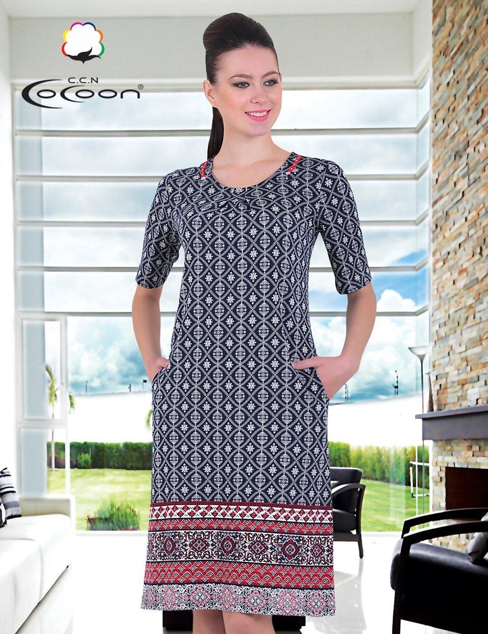 Платье трикотажное 20134 Орнамент Cocoon