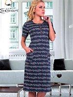 Платье трикотажное 20150 Цветы Cocoon