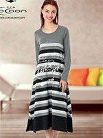 Платье трикотажное, длинное 22-3023 Полоска Cocoon