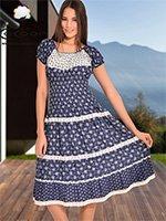 Платье трикотажное Цветы 27015 Cocoon