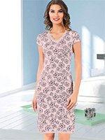 Рубашка средней длины KG-881 (KG-2881) Цветы Cocoon