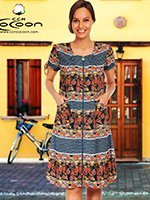 Женский трикотажный халат на молнии 30096 Cocoon