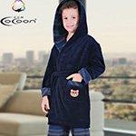 Детский комплект (халат+брюки) т.синий С-501 Cocoon