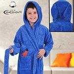 Детский халат из микрофибры голубой Морковь С-503 Cocoon
