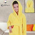 Детский халат из микрофибры желтый Морковь С-503 Cocoon