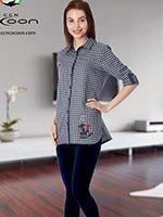 Комплект для отдыха (рубашка+лосины) 66-1139 Якорь Cocoon