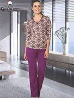 Пижама (кофта+брюки) YPJ-855 Узоры Cocoon secret