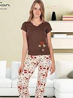 Пижама (футболка+брюки) KPJ-861 Маки Cocoon secret