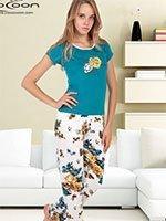 Пижама (футболка+брюки) KPJ-863 Букет Cocoon secret