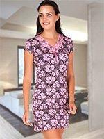 Рубашка средней длины KG-908 Цветы Cocoon